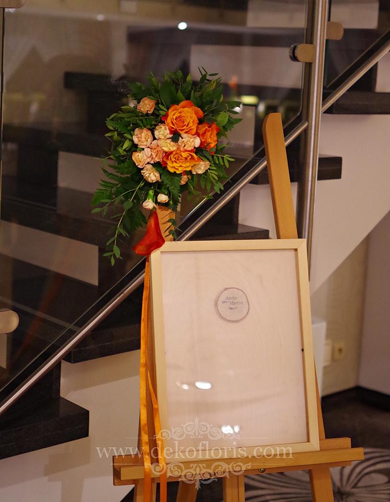 Pomarańczowa dekoracja wesela - Słociak Opole
