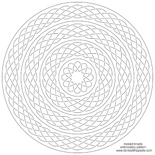 braided or knotwork embroidery pattern