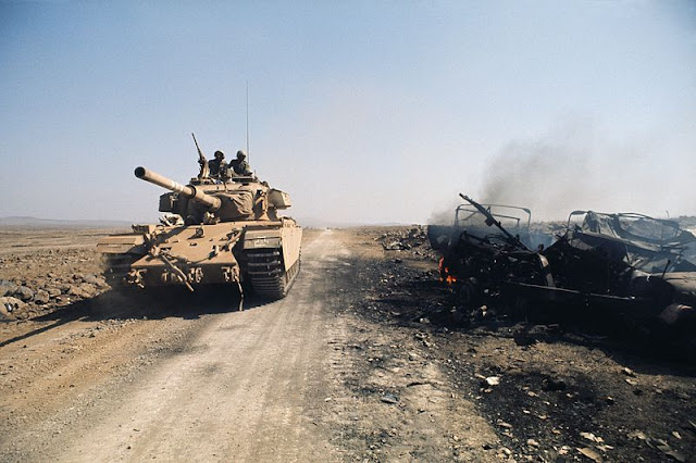 Israeli Tank in Golan Heights