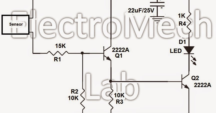 electromech lab  how to make very simple water sensor circuit