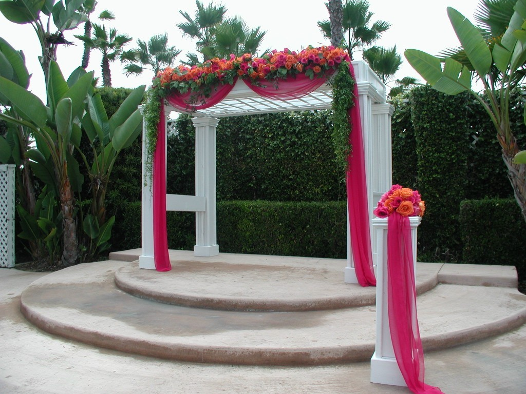 Arbor Decorations - beach wedding gazebo decorating ideas