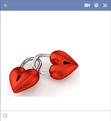 Pad Lock Hearts for Facebook