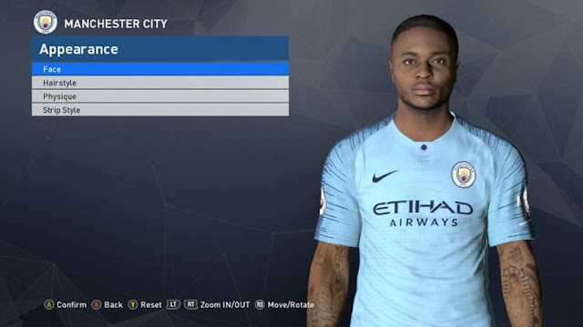 Raheem Sterling New Face PES 2017