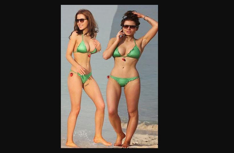 Helen Flanagan Emerald Green Bikini