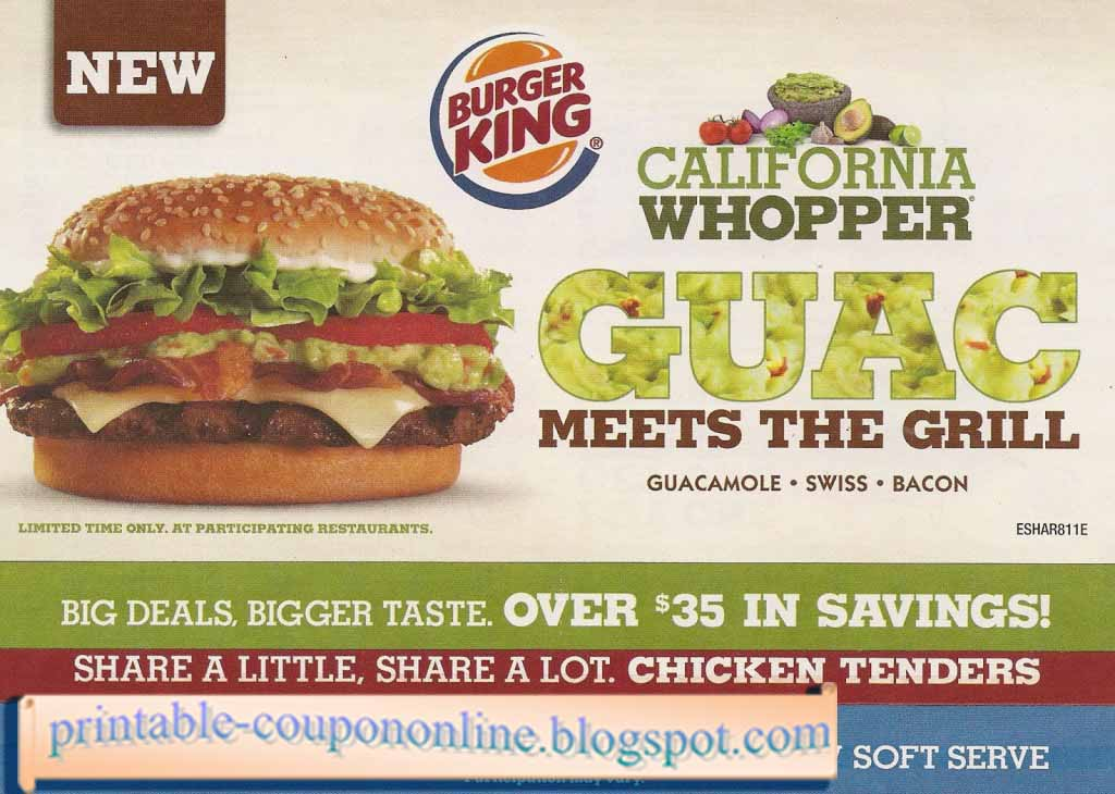 Fast food coupons december 2018