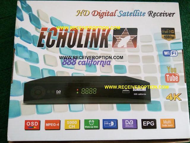 ECHOLINK 888 CALIFORNIA HD RECEIVER CCCAM OPTION