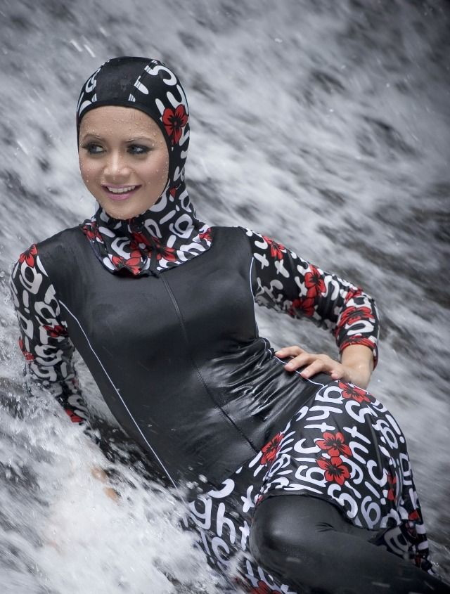 hijab style maillots de bain femmes voil es. Black Bedroom Furniture Sets. Home Design Ideas