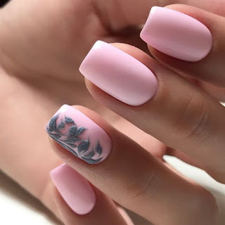 modelos de unhas cor de rosa