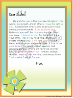 flower letter to student
