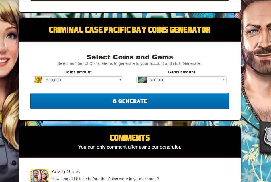 Online Generator for Games: Criminal Case Pacific Bay Hack ...