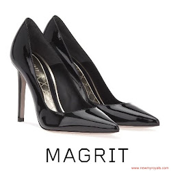 Queen Letizia Style MAGRIT Pumps and CAROLINA HERRERA Dress
