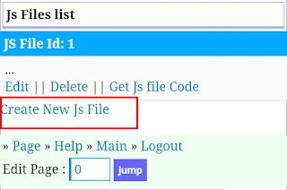 Create New Js