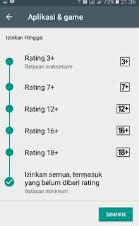 rating aplikasi yang cocok untuk anak