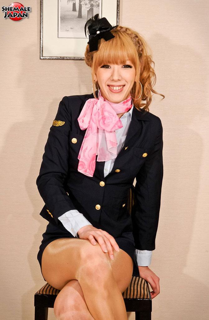 shemale flight attendant