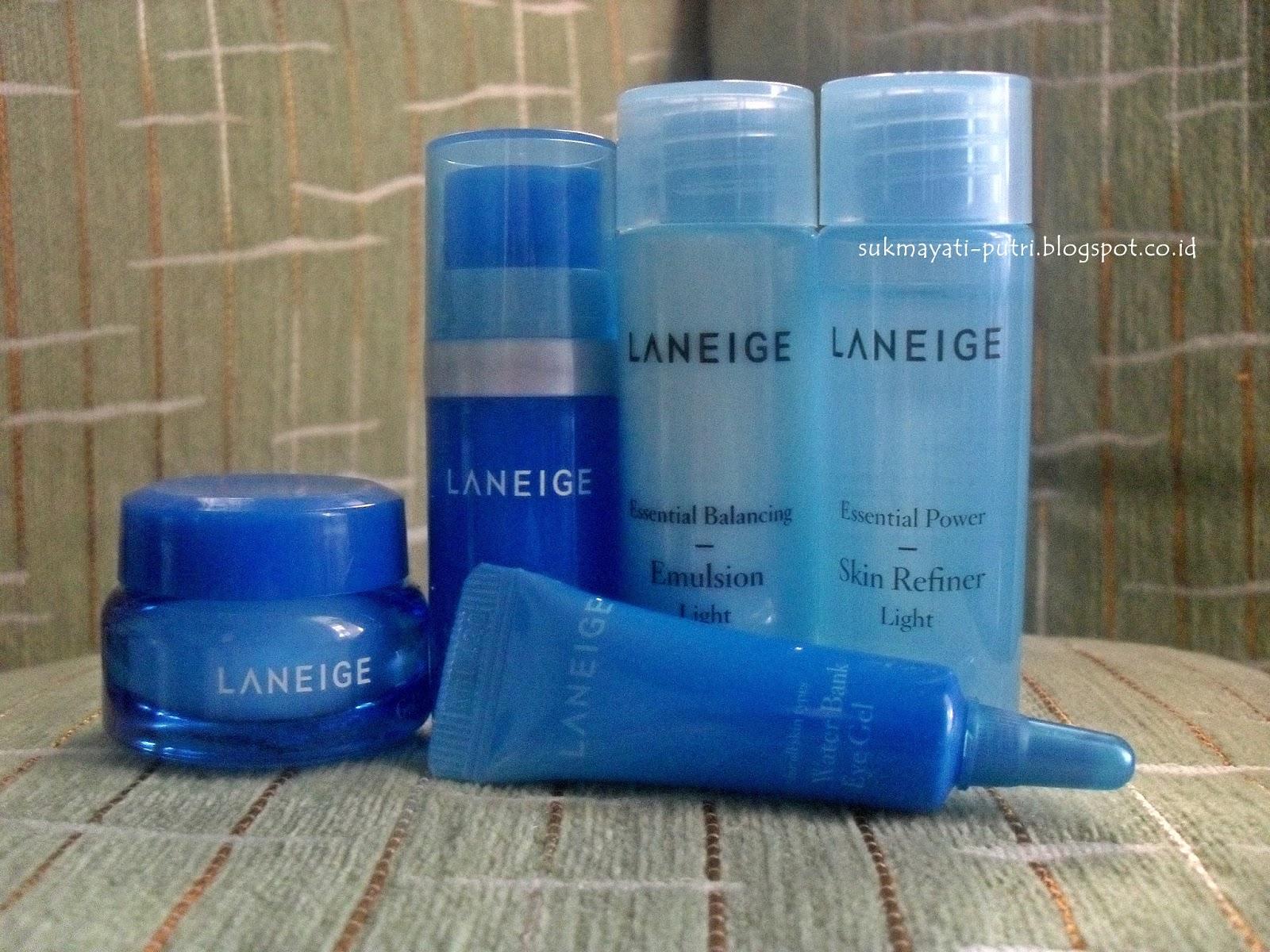 Review Laneige Basic New Water Bank Refreshing Kit Be You Tiful Set Paket A Berisi 5 Produk Dan Ini Ternyata Memang Khusus Buat Yang Punya Combination To Oily Skin Aku Kulit Super Duper Teamhinyai Merasa