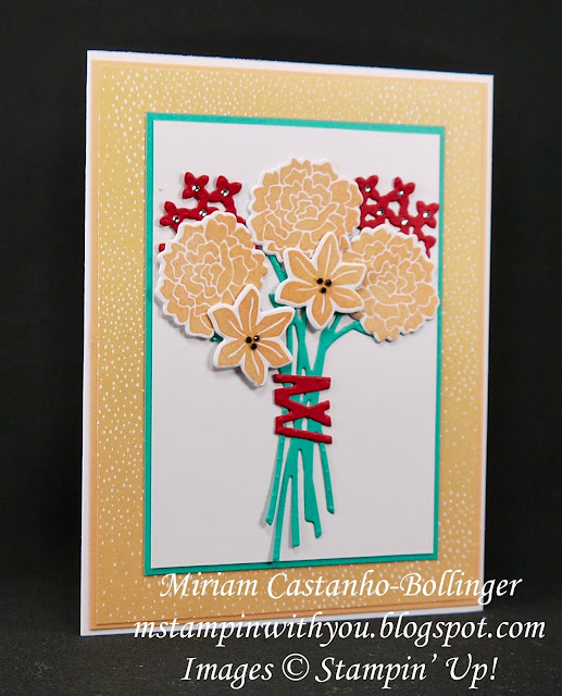 Miriam Castanho-Bollinge, msampinwithyou, stampin up, demonstrator, dsc, all occasions card, tutti-frutti dsp, Beautiful Bouquet stamp set, beautiful bunch, big shot, su