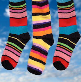 Odd socks for Down's Syndrome Day