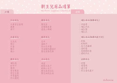新手媽媽 必備新生兒用品清單 Newborn Supplies Checklist PDF