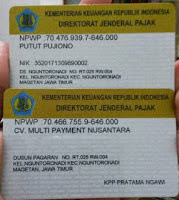 Legalitas Usaha Kios Pulsa CV. Multi Payment Nusnatara