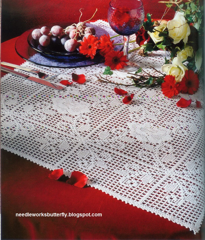 Needle Works Butterfly Filet Crochet Doilies With Patterns