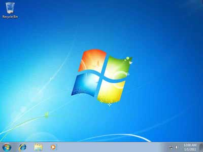 Tampilan Awal Setelah Instalasi Selesai  - cara menginstall laptop