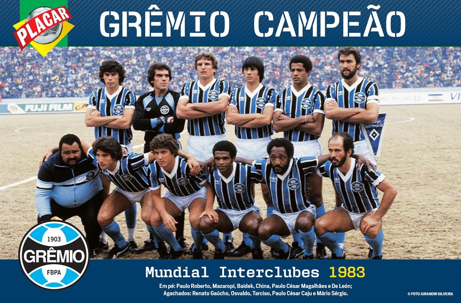Há 30 anos  Grêmio Imortal Tricolor Gaúcho celebrava a conquista de campeão  mundial de clubes 57ecfdb267c44