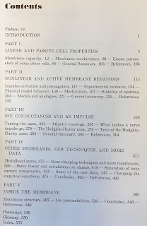 Table of Contents for Membranes, Ions and Impulses, by Kenneth Cole