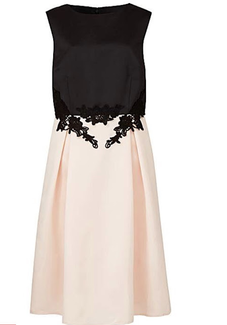 black and cream lace prom style ladies dress