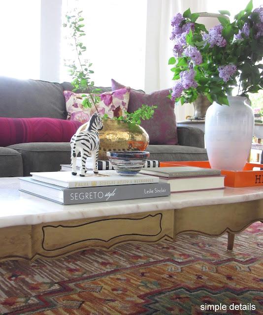 Marble Top Coffee Table Craigslist: Simple Details: One Room Challenge