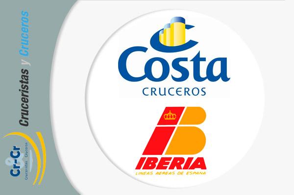 NOTICIAS DE CRUCEROS - Iberia y Costa Cruceros amplían su acuerdo para la nueva temporada 2016