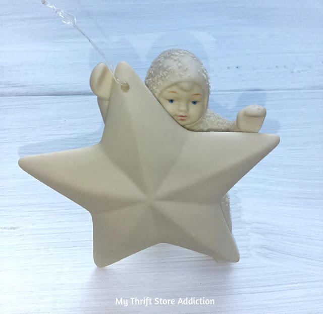 Vintage retired Star Bright Snowbabies ornament