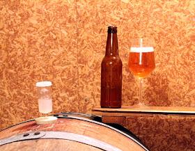 Glass of Golden Solera in the barrel it spent 20 months in.