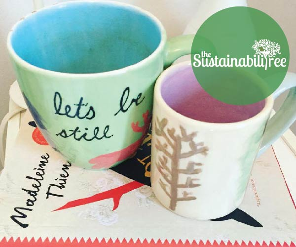 reusable, mug, book, read
