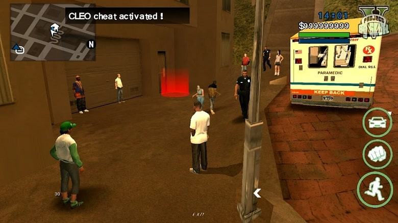 Grand Theft Auto San Andreas 1.08 Apk + Data + Mod (Cleo) Gratis for Android