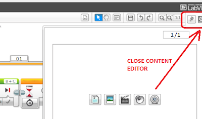 Mindstorms EV3 Content Editor: How to close