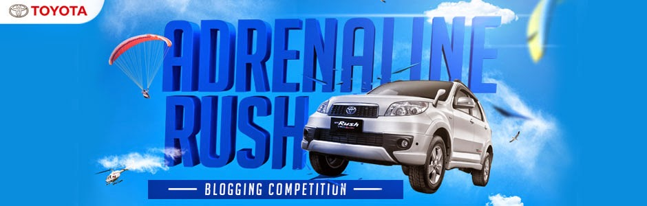 TOYOTA ADRENALINE RUSH BLOGGING COMPETITION
