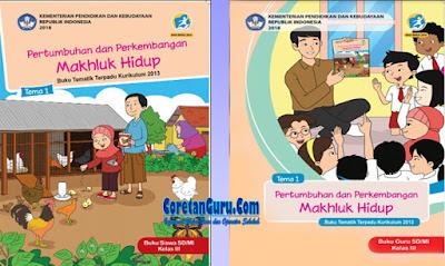 cover Buku Kelas 3 SD Kurikulum 2013 Revisi 2018 Semester 1 Lengkap Buku Siswa dan Buku Guru