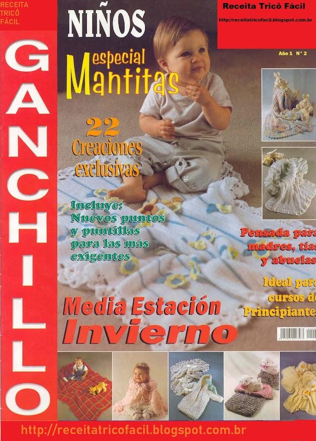 Bebês Especial Mantas-Revista Crochê Especial Mantas