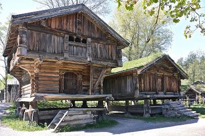 Oslo Norsk Folkmuseum : maison rurales presque-île de Bygdoy