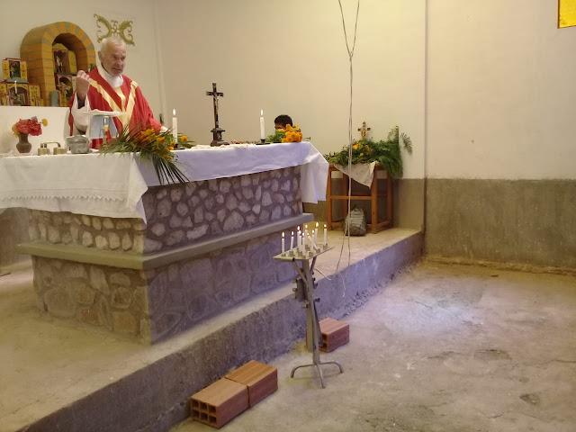Palmweihe in der Kapelle von Casa Grande