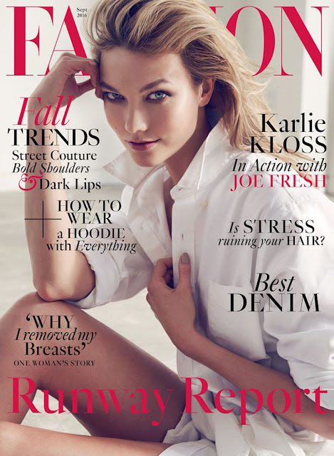 Fashion Model, @ Karlie Kloss - Fashion Magazine Canada September 2016