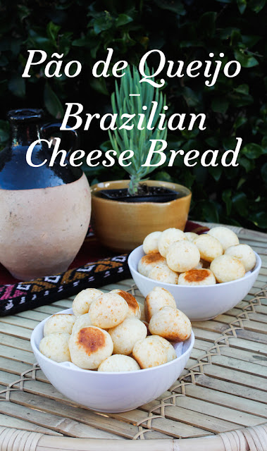 Food Lust People Love: Chewy and cheesy inside with a slightly crunchy outside, Pão de Queijo is a traditional baked snack served in Brazil. They are terribly more-ish. You cannot eat just one!