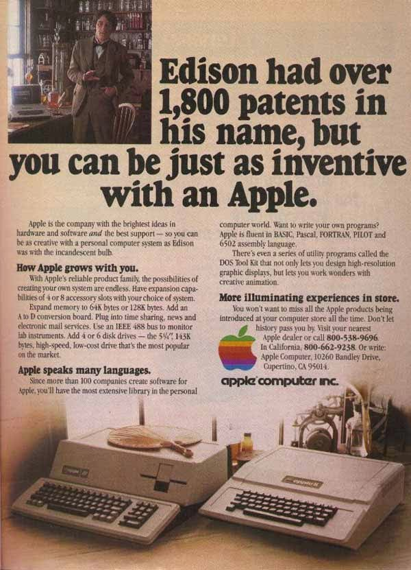 Vintage Apple Ads In The 1970s And 1980s