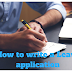 How to write an Application to the Principal for leave for an urgent piece of work.