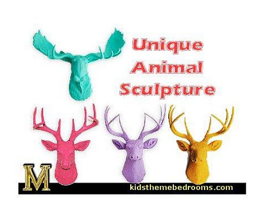 Resin deer heads wall decorations - wall art prints - wall stencils - wall murals - wall decals - wall decor - Lighted Letters - wall letters - Storage wall shelves - Marquee Lights - picture frames - mirrors - decorative accents  cardboard wall mounts