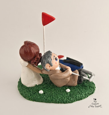 golf golfing wedding cake topper