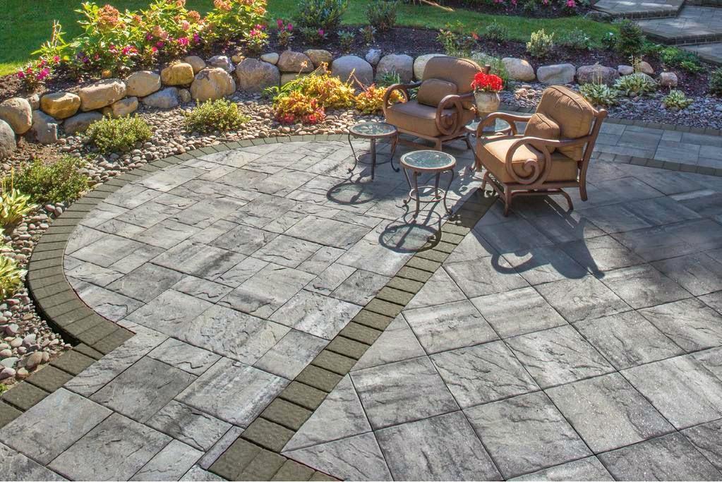 Custom Stoneworks & Design Inc : Ledgestone slab paver made