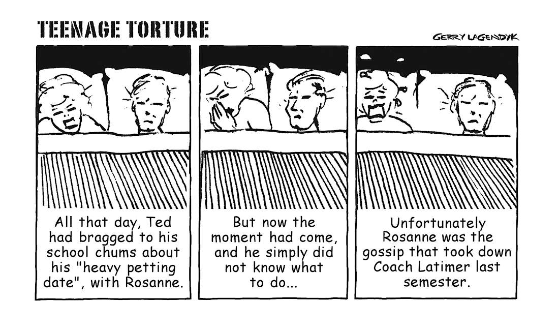 Teenage Torture, a cartoon about inexperienced sex