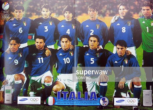 ITALY TEAM SQUAD 1999