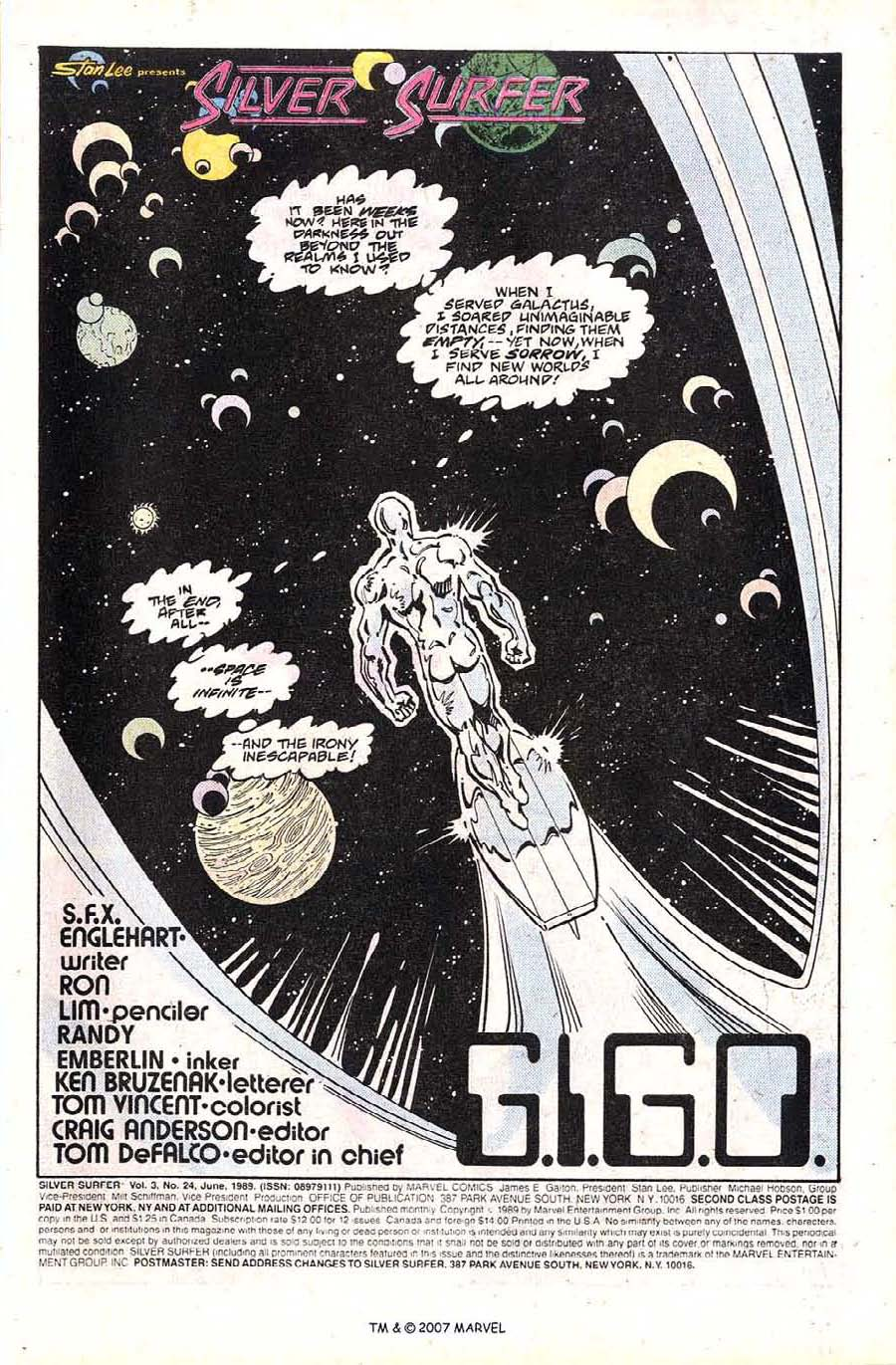 Read online Silver Surfer (1987) comic -  Issue #24 - 3